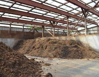 牛舎と堆肥舎
